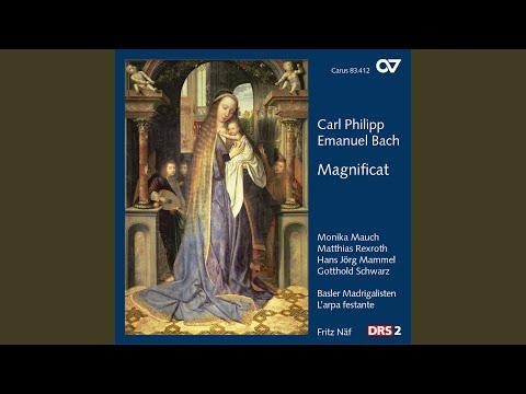 Magnificat, Wq. 215, H. 772: Quia respexit (Soprano)